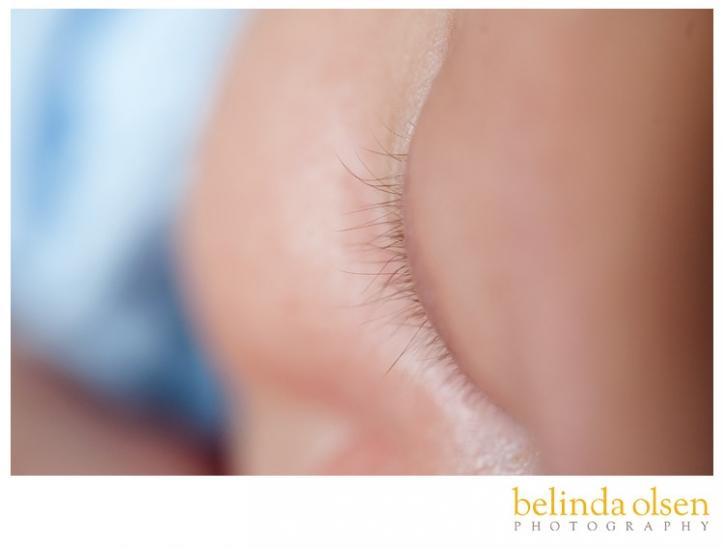 picture of newborn baby eyelashes