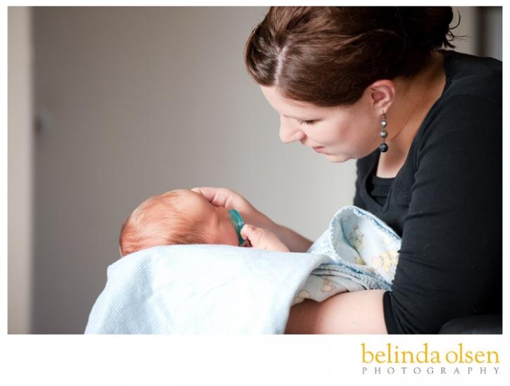 mother and newborn photo